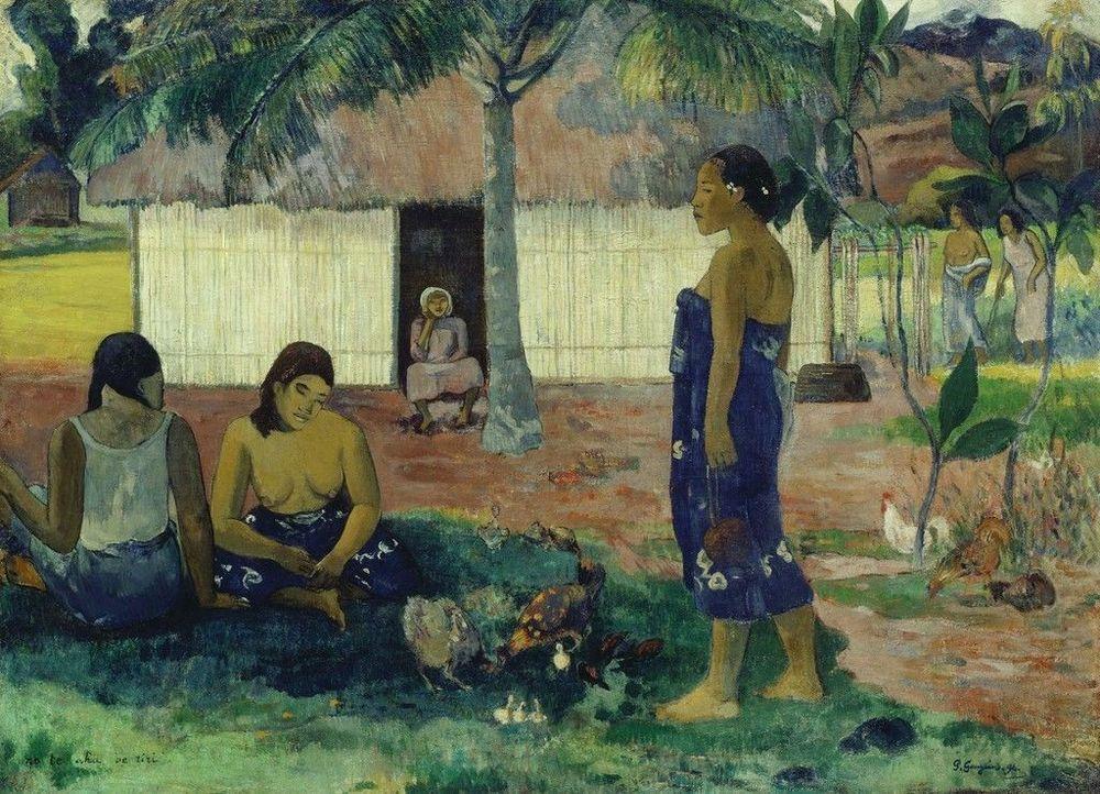 painting of Tahitian woman